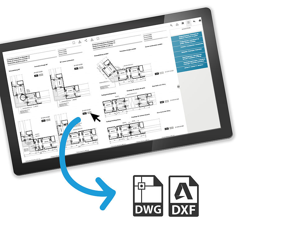 Direkter DXF / DWG Download Docu Center