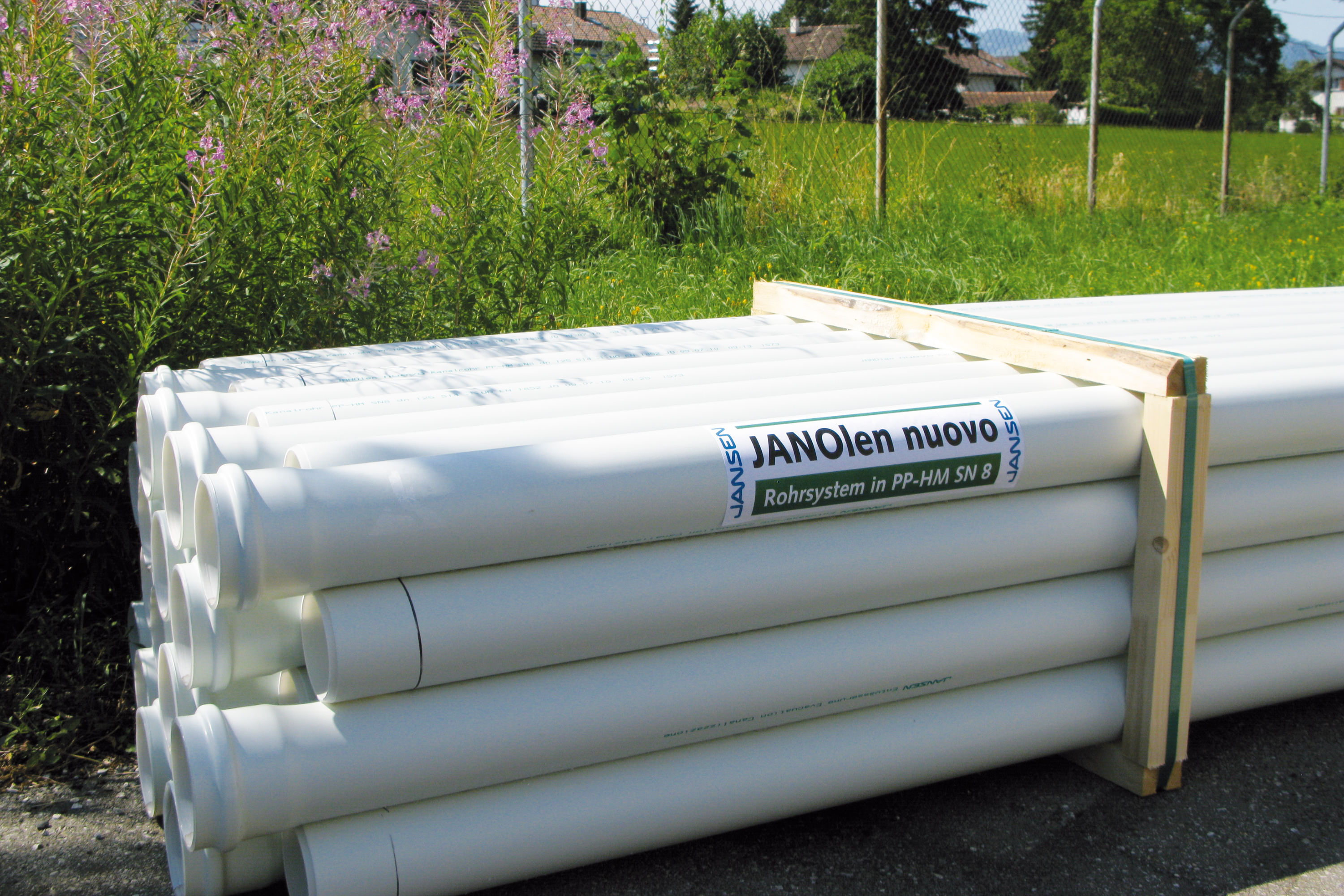 JANSEN nuovo sewer and perforated pipe