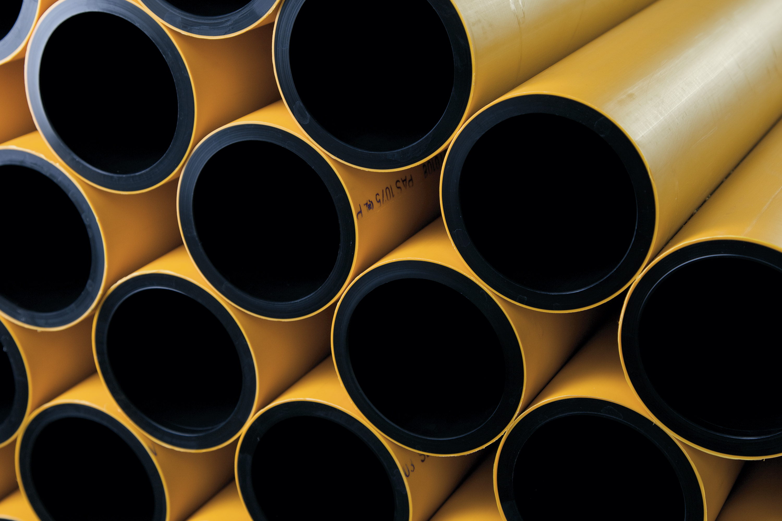 JANSEN PE 100 RC 9010 pressure pipe: co-extruded, double-layer pipe