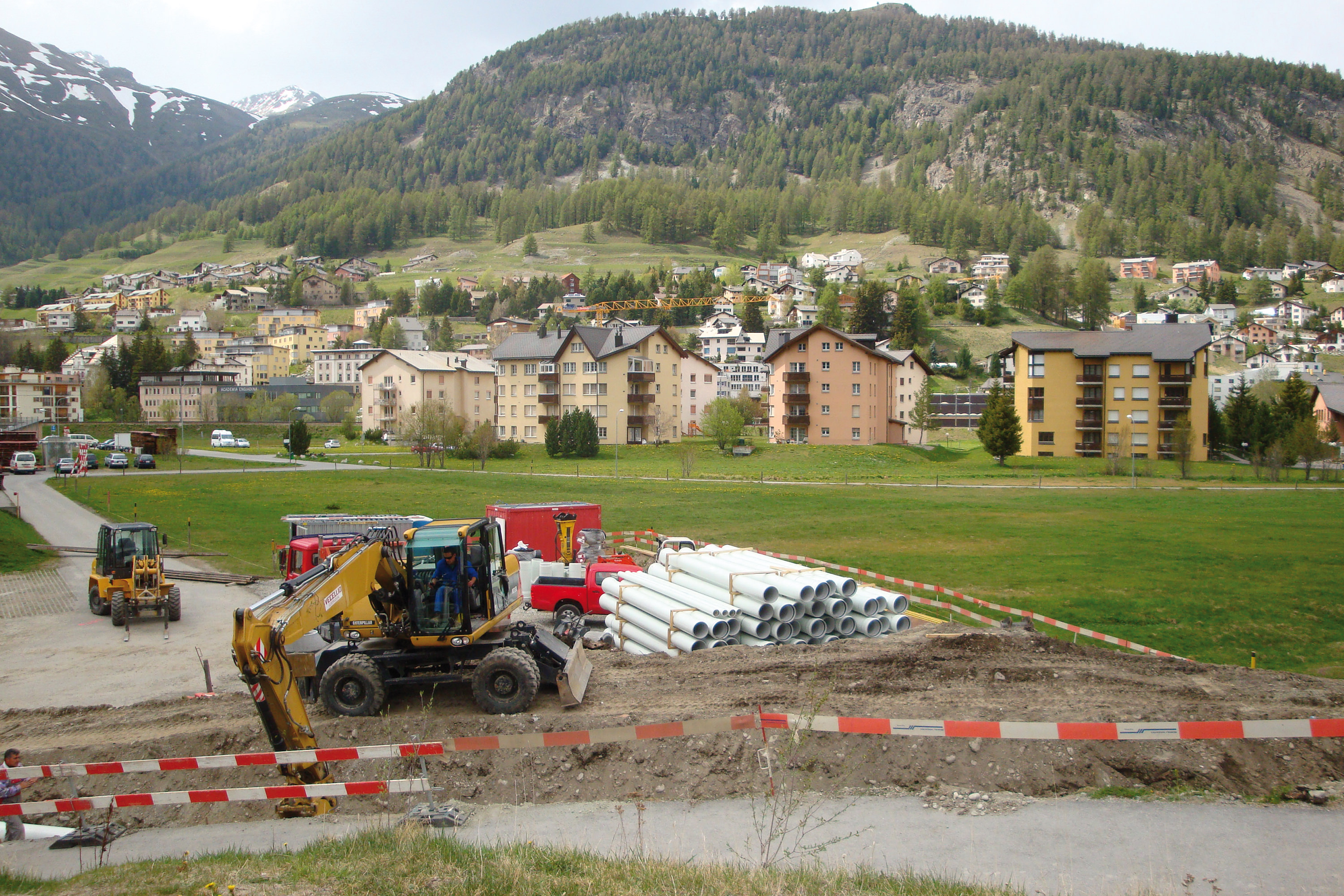 Fusion drainage systems between Samedan and S-chanf