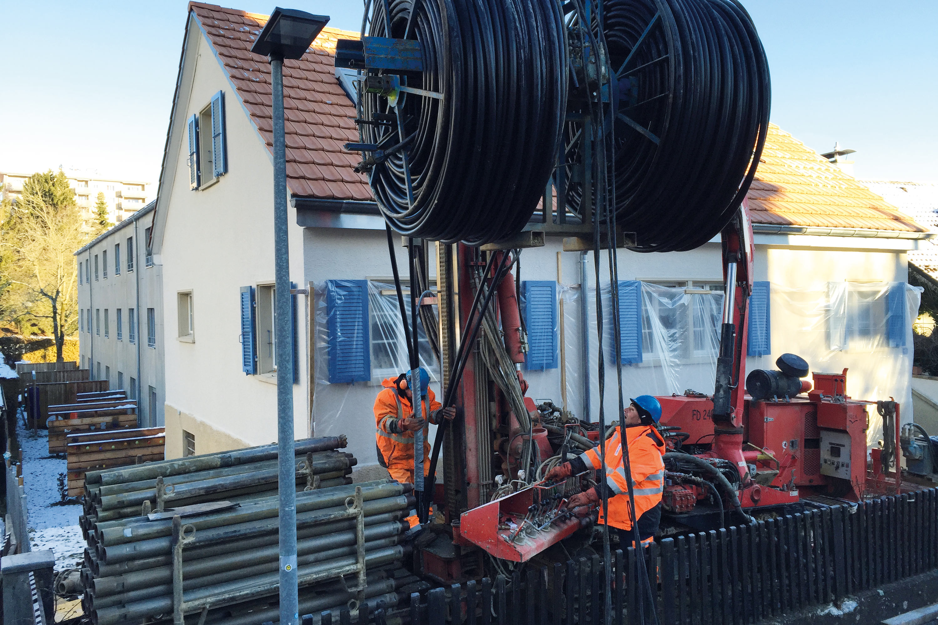 Successful geothermal heat with JANSEN hipress