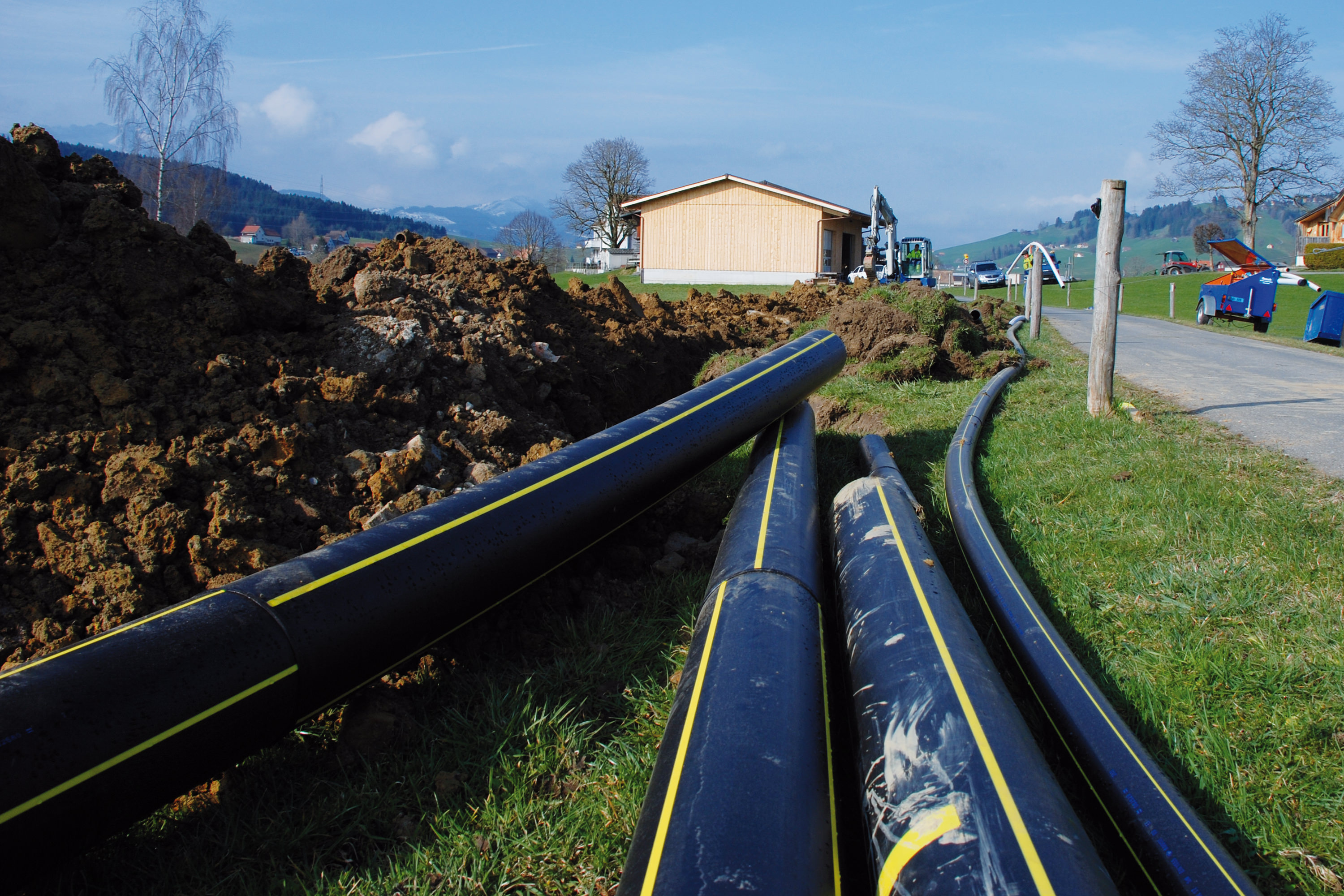 Gas pipeline between Altstätten and Appenzell